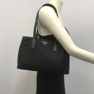 Vintage Prada Nylon Black Tote Style Vela Sport